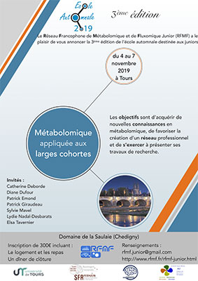 Flyer 3ème édition de l'école automnale du Réseau Francophone de Métabolomique et de Fluxomique Junior