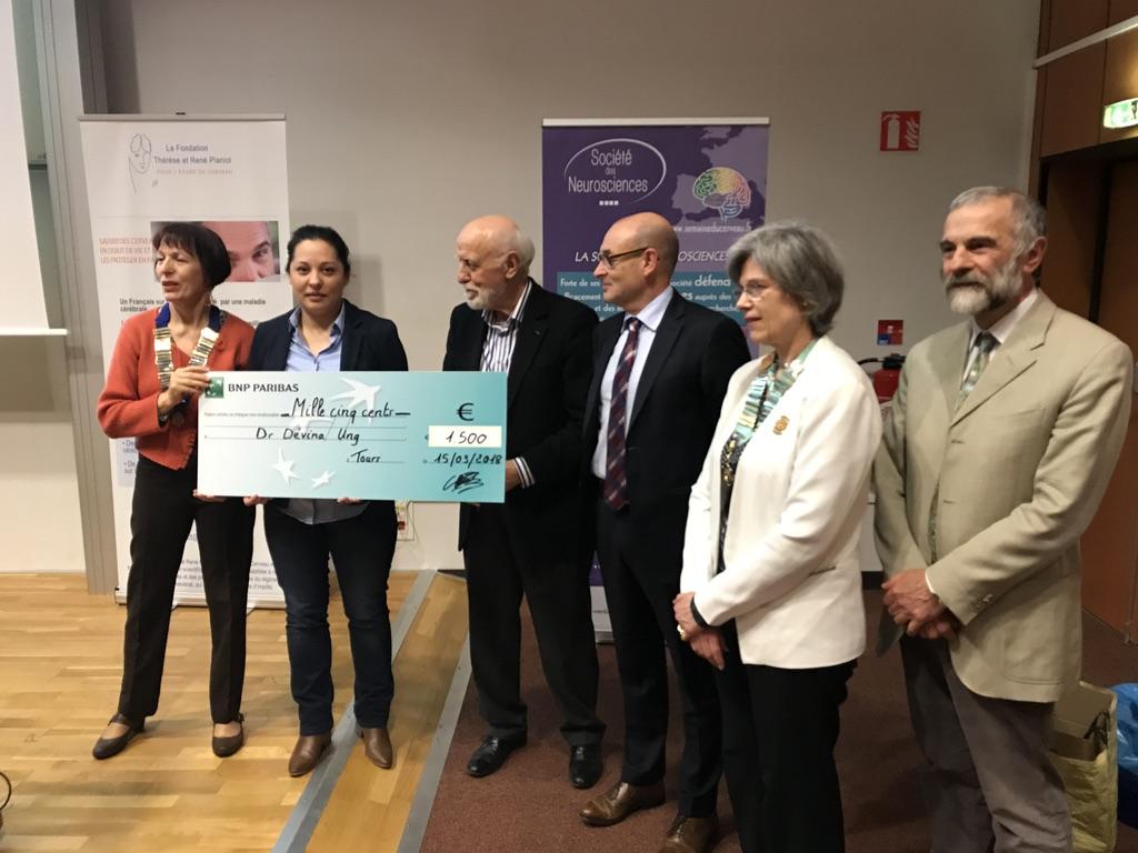 Le Dr. Ung, Prix Jeune Chercheur de la Fondation Planiol